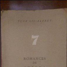 Libros antiguos: 7 ROMANCES DE GUERRA (UNICO). Lote 77115061