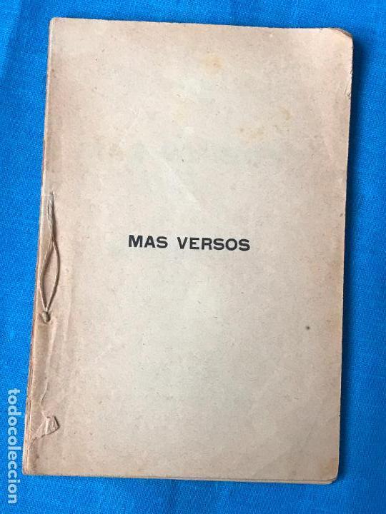 MAS VERSOS - POETA MURCIANO JOSE TOLOSA HERNANDEZ - MURCIA 1894 (Libros antiguos (hasta 1936), raros y curiosos - Literatura - Poesía)