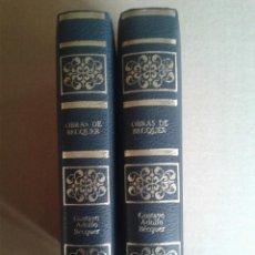 Libros antiguos: OBRAS DE BECQUER TOMO 1 Y 2 AÑO 1980. Lote 79114433