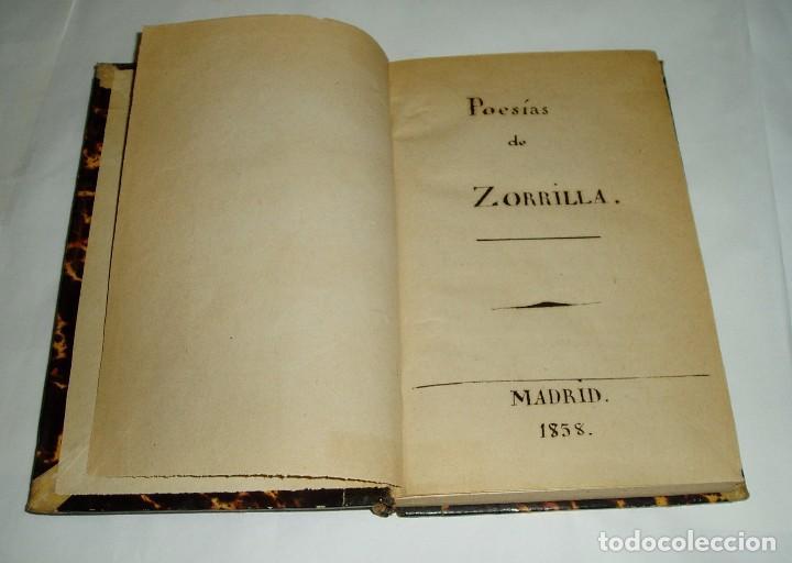 Libros antiguos: POESIAS DE DON JOSÉ ZORRILLA 1838 TOMOI - Foto 3 - 80880675