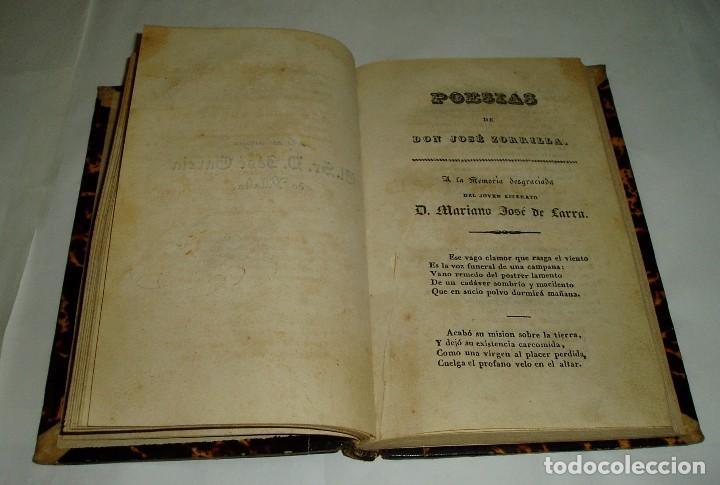 Libros antiguos: POESIAS DE DON JOSÉ ZORRILLA 1838 TOMOI - Foto 5 - 80880675