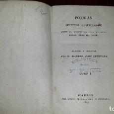 Libros antiguos: POESÍAS SELECTAS CASTELLANAS. POR MANUEL JOSEF QUINTANA (1807) TOMO I. Lote 81034616