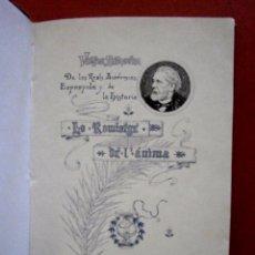 Libros antiguos: LO ROMIATGE DE MON ANIMA. VICTOR BALAGUER. Lote 82281624