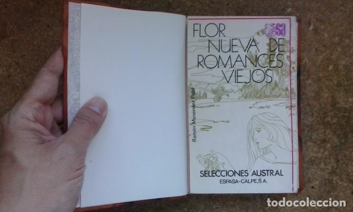 Libros antiguos: Flor nueva de romances viejos (1976) / Ramón Menéndez Pidal. Espasa Calpe. - Foto 7 - 83956212