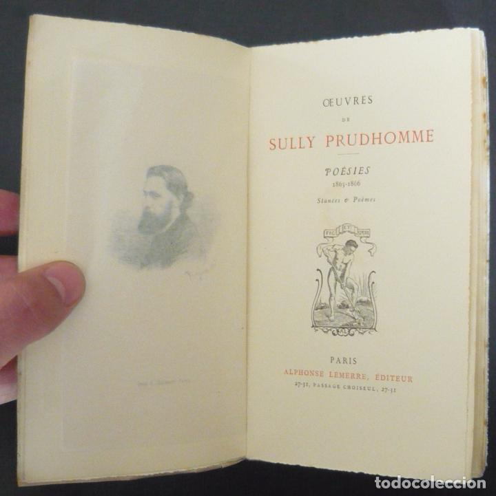 Ca 1900 Sully Prudhomme Oeuvres Poésies 1865 1866 Stances Poèmes Poesía Francesa Lemerre