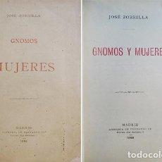 Libros antiguos: ZORRILLA, JOSÉ. GNOMOS Y MUJERES. 1886.. Lote 86532148