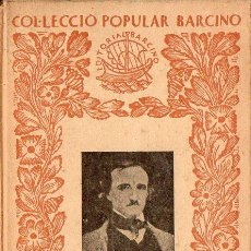Libros antiguos: ELS POEMES D'EDGAR POE - VERSIÓ CATALANA DE A. ESCLASANS (BARCINO, 1934) TAPA DURA. Lote 89472828