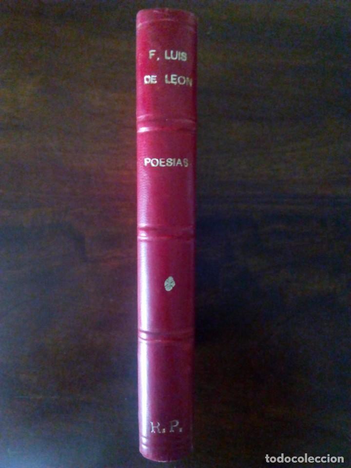 FRAY LUIS DE LEÓN. POESÍAS. CON ANOTACIONES DE MENÉNDEZ Y PELAYO. 1928. (Libros antiguos (hasta 1936), raros y curiosos - Literatura - Poesía)