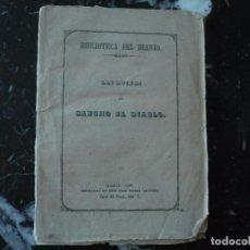 Libros antiguos: LAS RUINAS DE SANCHO EL DIABLO TRADICION POPULAR JUAN DE ARIZA 1848 MADRID. Lote 90342876