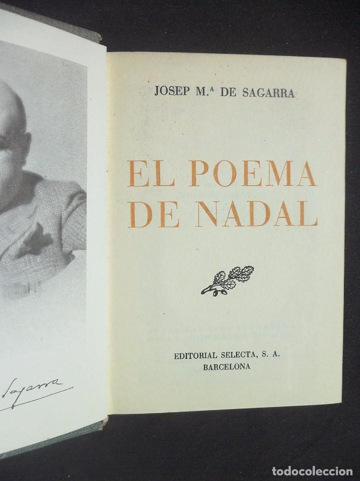 Libros antiguos: EL POEMA DE NADAL - El mal caçador - J. M. de SAGARRA - Catalunya Català - Foto 2 - 90469419