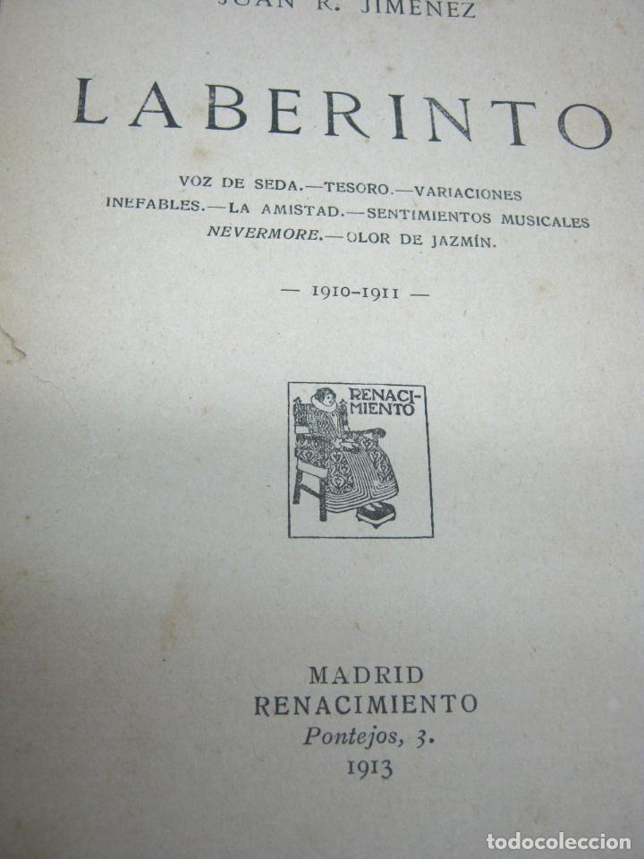 Libros antiguos: 1ª edicion año 1913 - Juan Ramon Jimenez . Poesia . Laberinto . Ed. Renacimiento - Foto 2 - 90671680