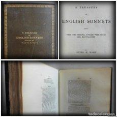 Libros antiguos: A TREASURY OF ENGLISH SONNETS (1880) - PRIMERA EDICIÓN - POESÍA INGLESA. Lote 91123735