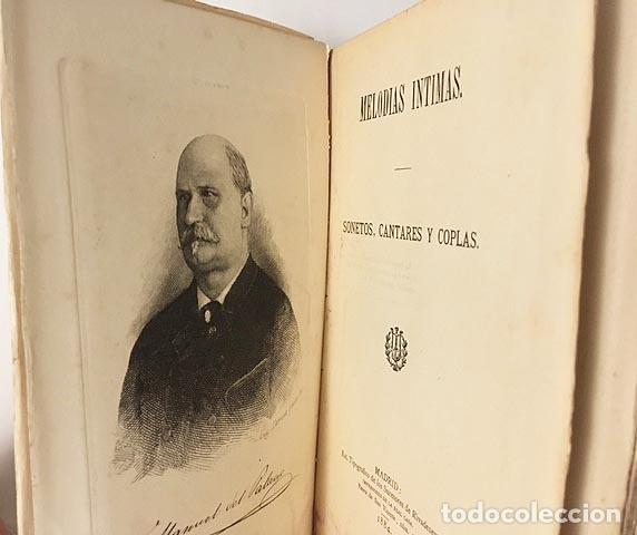 MANUEL DEL PALACIO : MELODÍAS ÍNTIMAS (SONETOS, CANCIONES Y COPLAS) 1884. (Libros antiguos (hasta 1936), raros y curiosos - Literatura - Poesía)