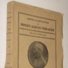 Libros antiguos: SANT FRANCESCH - MOSSEN JACINTO VERDAGUER - EN CATALAN *. Lote 91378355