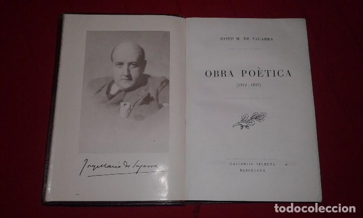 Libros antiguos: OBRA POÈTICA (1912-1937).-JOSEP M. DE SAGARRA - Foto 3 - 150507786