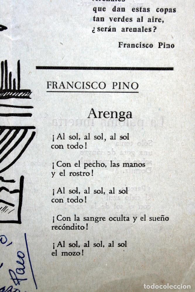 Libros antiguos: 1959 - PLIEGO CORDEL - FRANCISCO PINO - dedicatoria de Pino - ARENALES - VALLADOLID - Foto 2 - 94032000