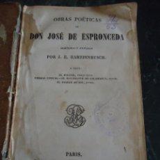 Libros antiguos: D. JOSÉ DE ESPRONCEDA. POESÍA 2ª EDICIÓN BAUDRY LIBRERÍA EUROPEA. PARÍS 1851. Lote 94675091
