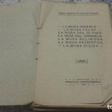 Libros antiguos: DEVOCIONARIO DE AMOR LA MUSA INGENUA JUAN LUIS CORDERO. BADAJOZ. EXTREMADURA.. Lote 95949179