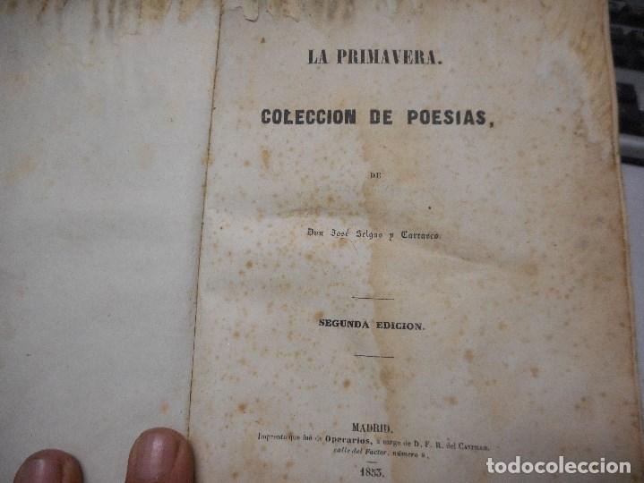 Libros antiguos: libro de 1853 de jose selgas coleccion de poesias - Foto 4 - 96457003