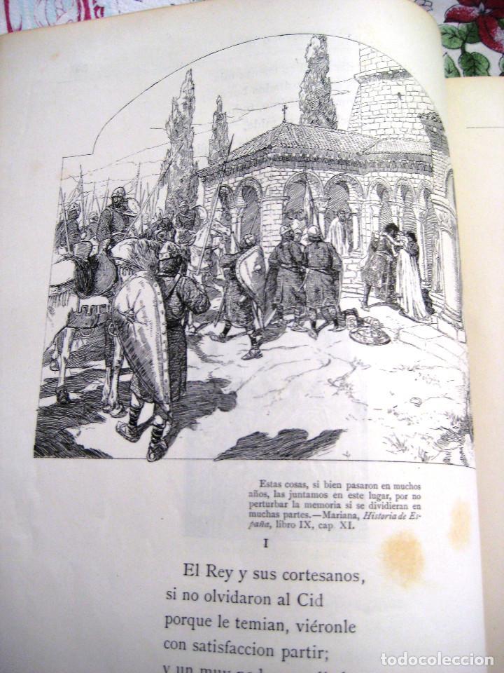 Libros antiguos: LEYENDA DEL CID- Zorrilla (Verso) 1882- coleccionistas y bibliofilos- Buen estado- - Foto 3 - 96857667
