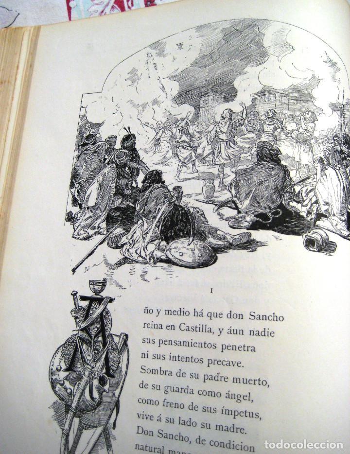 Libros antiguos: LEYENDA DEL CID- Zorrilla (Verso) 1882- coleccionistas y bibliofilos- Buen estado- - Foto 4 - 96857667