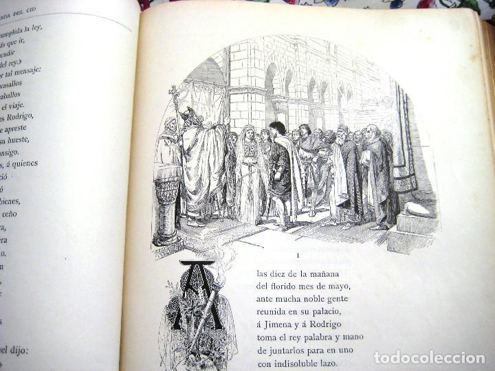 Libros antiguos: LEYENDA DEL CID- Zorrilla (Verso) 1882- coleccionistas y bibliofilos- Buen estado- - Foto 5 - 96857667
