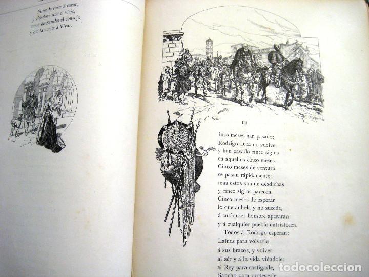 Libros antiguos: LEYENDA DEL CID- Zorrilla (Verso) 1882- coleccionistas y bibliofilos- Buen estado- - Foto 6 - 96857667