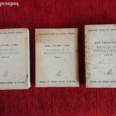 Libros antiguos: JOSÉ LEZAMA LIMA, ANTOLOGÍA DE LA POESÍA CUBANA 3 TOMOS. Lote 97066547