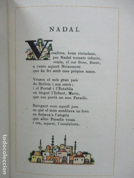 Libros antiguos: NADAL POEMA DRAMÀTIC EN UN ACTE I DOS QUADRES. JOSEP M. RIBES MONFAR. IL·LUSTR. DIVORI.1936. - Foto 5 - 97139703