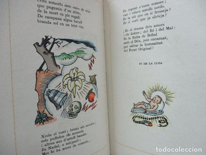 Libros antiguos: NADAL POEMA DRAMÀTIC EN UN ACTE I DOS QUADRES. JOSEP M. RIBES MONFAR. IL·LUSTR. DIVORI.1936. - Foto 6 - 97139703