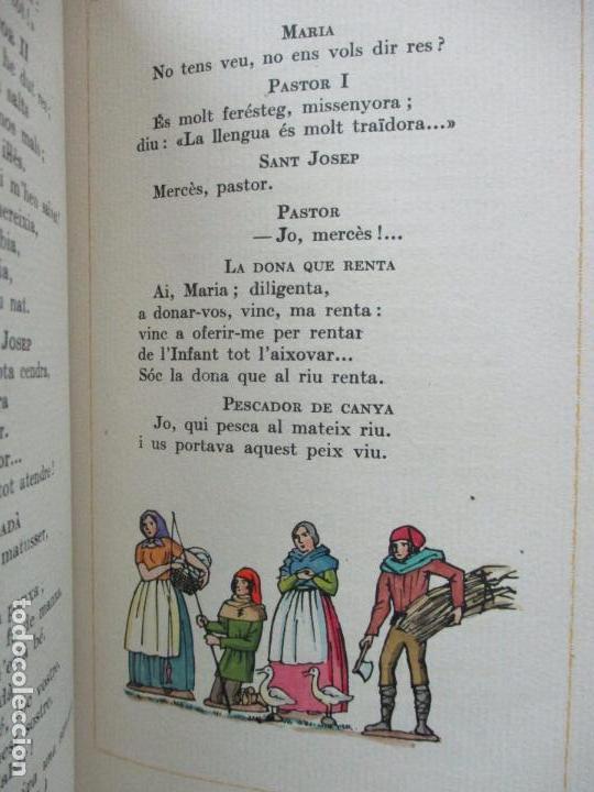 Libros antiguos: NADAL POEMA DRAMÀTIC EN UN ACTE I DOS QUADRES. JOSEP M. RIBES MONFAR. IL·LUSTR. DIVORI.1936. - Foto 8 - 97139703