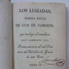 Libros antiguos: LOS LUSÍADAS. POEMA ÉPICO DE LUIS DE CAMOENS. 1818. TOMO II.. Lote 97276623