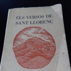 Libros antiguos: POESIA CATALANA ( ELS VERSOS DE SANT LLORENC ) FRANCESC VILA I PLANA. Lote 97763631