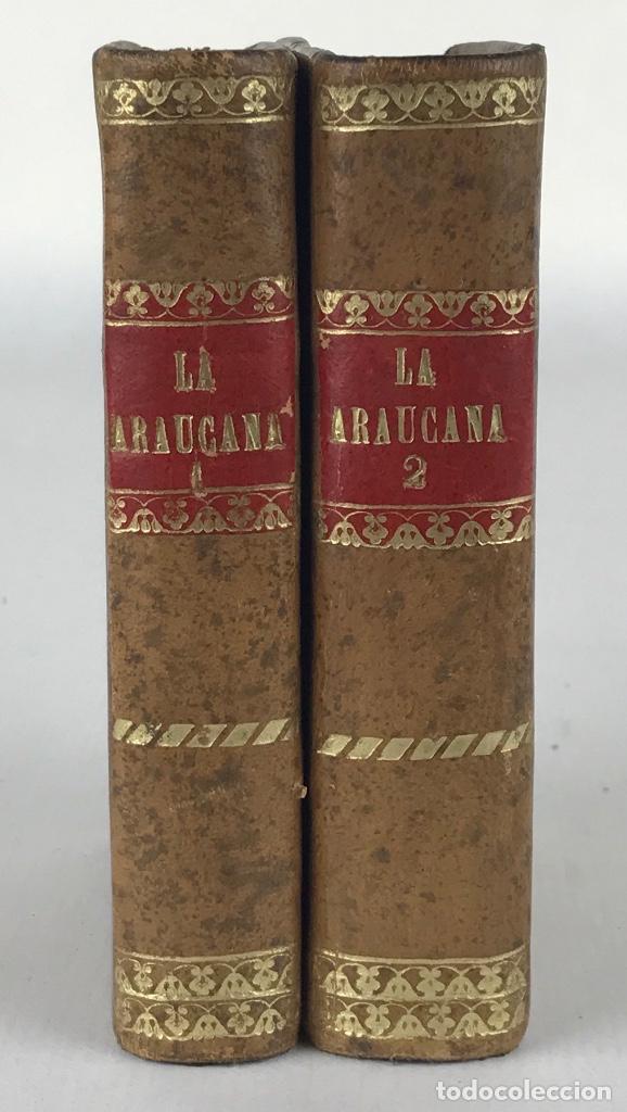 LA ARAUCANA. POEMA-D.ALONSO DE ERCILLA Y ZUÑIGA-IMPRENTA DE D.M.DE BURGOS, MADRID 1828-TOMOS 1 Y 2 (Libros antiguos (hasta 1936), raros y curiosos - Literatura - Poesía)