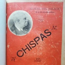 Libros antiguos: CHISPAS- MANUEL DEL PALACIO- 1894. Lote 99997291