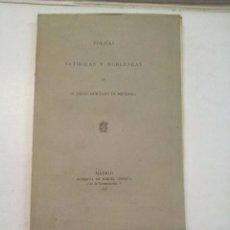 Libros antiguos: DIEGO HURTADO DE MENDOZA: POESÍAS SATÍRICAS Y BURLESCAS (1876). Lote 100282459