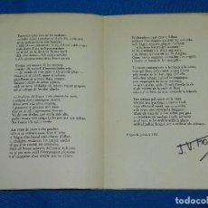 Libros antiguos: (M) J V FOIX ( DEDICATORIA AUTOGRAFA ) EN UN PAIS DE FORTA OLOR BOSCANA I AMB EL MAR PRESSENTIT 1971. Lote 100531231