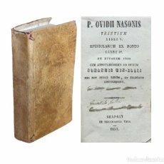 Libros antiguos: 1857 - OVIDIO: TRISTIA - PÓNTICAS - IBIS - PERGAMINO SIGLO XIX - LATÍN - LITERATURA LATINA - ROMA. Lote 100583591