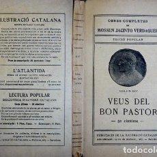 Libros antiguos: VERDAGUER, JACINT. VEUS DEL BON PASTOR. (HACIA 1912).. Lote 100716871
