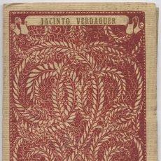 Libros antiguos: VERDAGUER, JACINTO. POESÍAS. TRADUCCIONES DEL CONDE DE CEDILLO, FRANCISCO DIAZ... (HACIA 1921).. Lote 100717471
