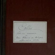 Libros antiguos: COBLES. COBLES FETES EN MEMORIA DEL MOLT ILLUSTRISSIM Y REVERENDISSIM SENYOR DON FEDERICH... 1900.. Lote 100897095