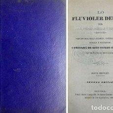 Libros antiguos: PASTELLS I TABERNER, ANDREU. LO FLUVIOLER DEL TER. POESÍAS ORIGINALS JOCOSAS, SATÍRICAS... 1868.. Lote 100924363