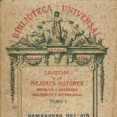 Libros antiguos: ROMANCERO DEL CID. AÑO 1923 (12.1). Lote 101631607