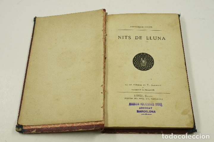 Libros antiguos: Nits de lluna, 1886, Frederich Soler (Serafí Pitarra). 12x18,5cm - Foto 2 - 102583087