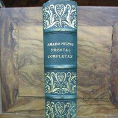 Libros antiguos: POESÍAS COMPLETAS AMADO NERVO. 1935. BONITA ENCUADERNACIÓN.. Lote 103038431