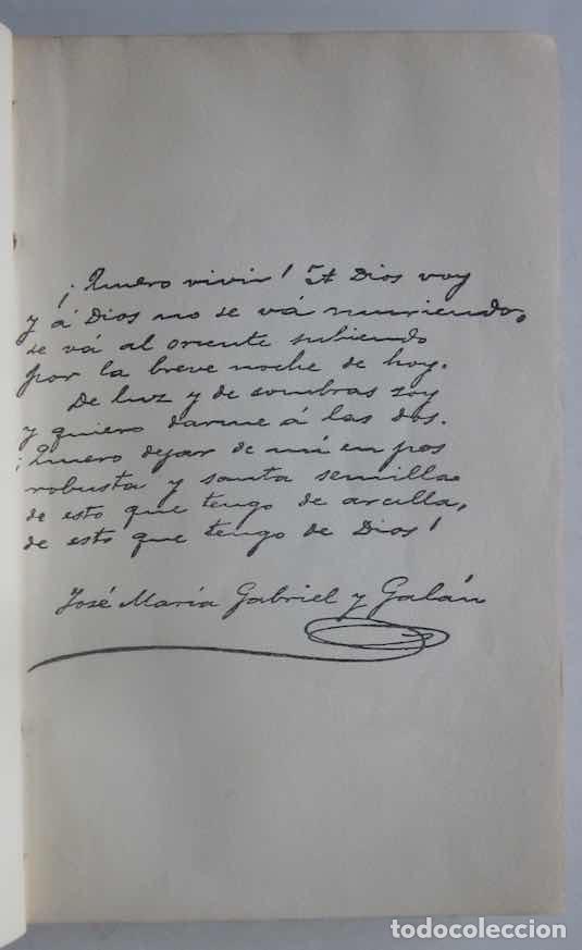 Libros antiguos: OBRAS COMPLETAS DE GABRIEL Y GALAN - 2 TOMOS - Foto 2 - 103066827