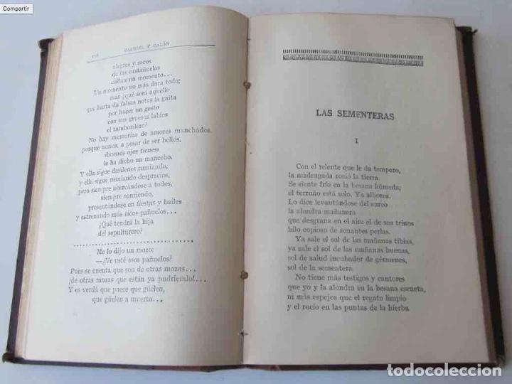 Libros antiguos: OBRAS COMPLETAS DE GABRIEL Y GALAN - 2 TOMOS - Foto 6 - 103066827