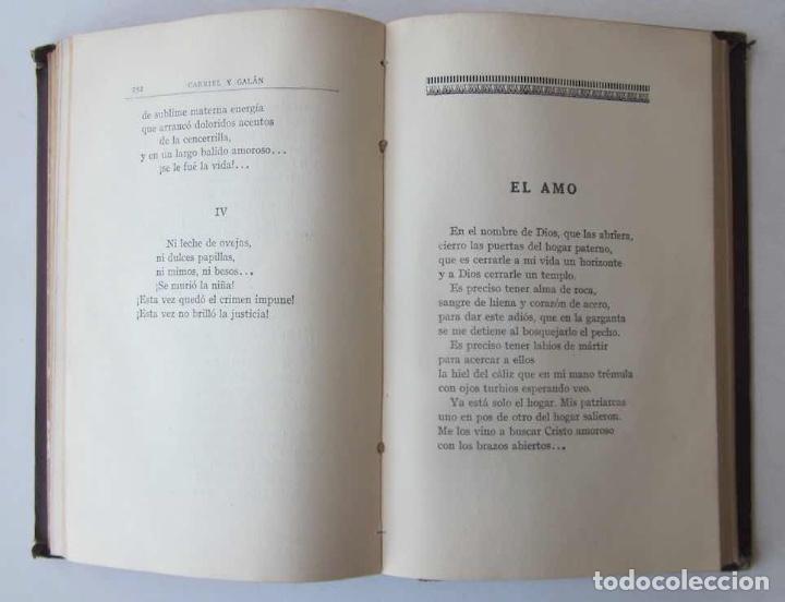 Libros antiguos: OBRAS COMPLETAS DE GABRIEL Y GALAN - 2 TOMOS - Foto 7 - 103066827
