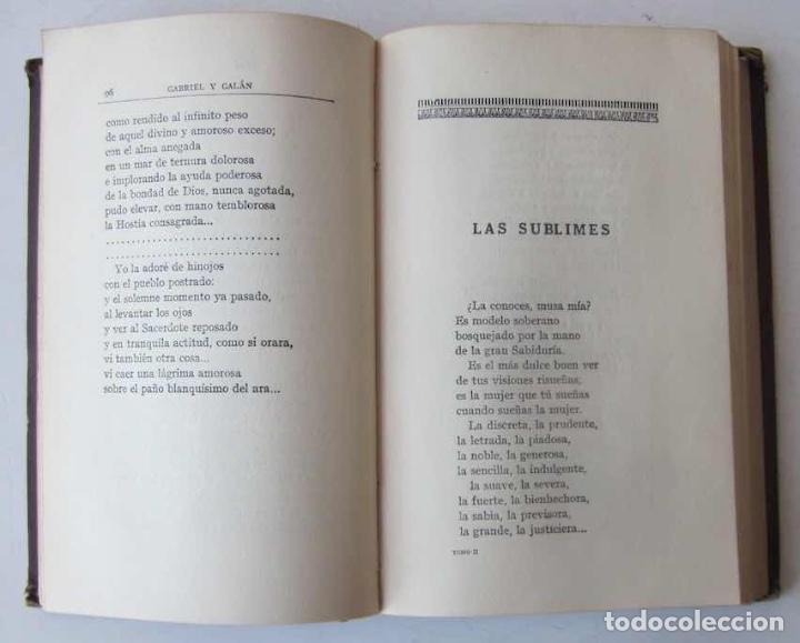 Libros antiguos: OBRAS COMPLETAS DE GABRIEL Y GALAN - 2 TOMOS - Foto 10 - 103066827