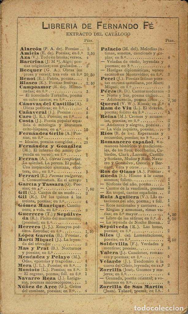 Libros antiguos: CORAZONADAS, POR EUSEBIO BLASCO. AÑO 1898 (13.1) - Foto 2 - 103105543
